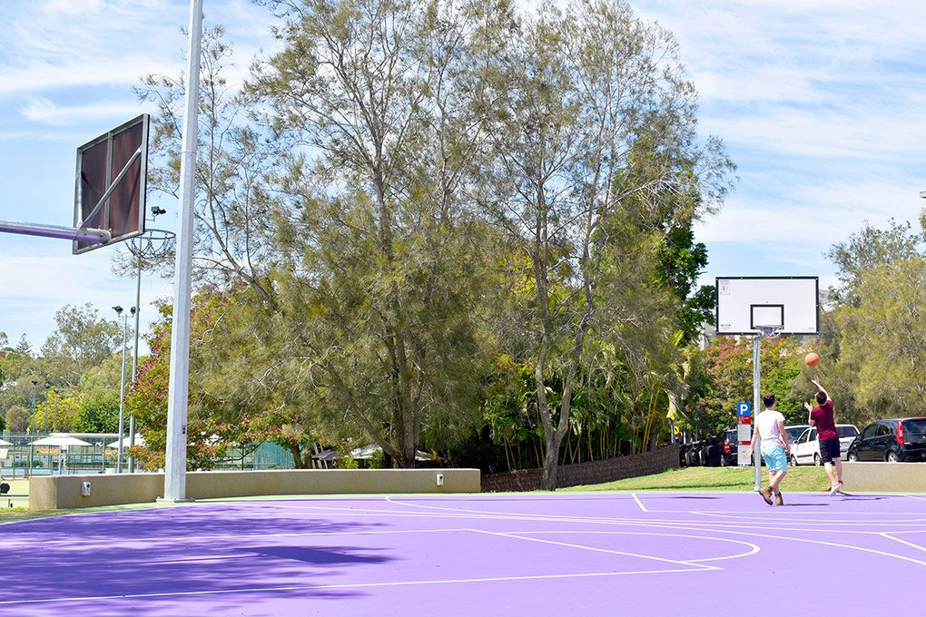 Three Key Circular Basketball Court
